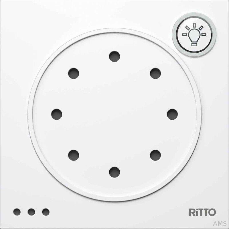 Ritto Portier Türsprechmodul cremeweiß (ws) mit Lichta. 95x95x33mm 1 8760/70