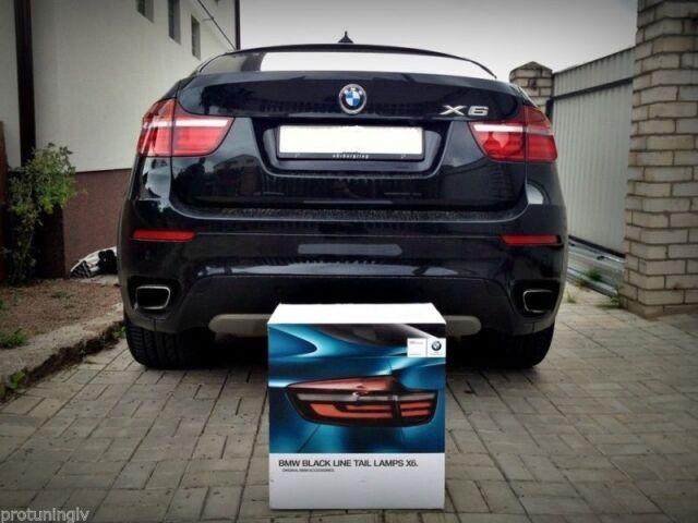 For BMW X6 E71 E72 BLACK Line GENUINE LED Taillights EO