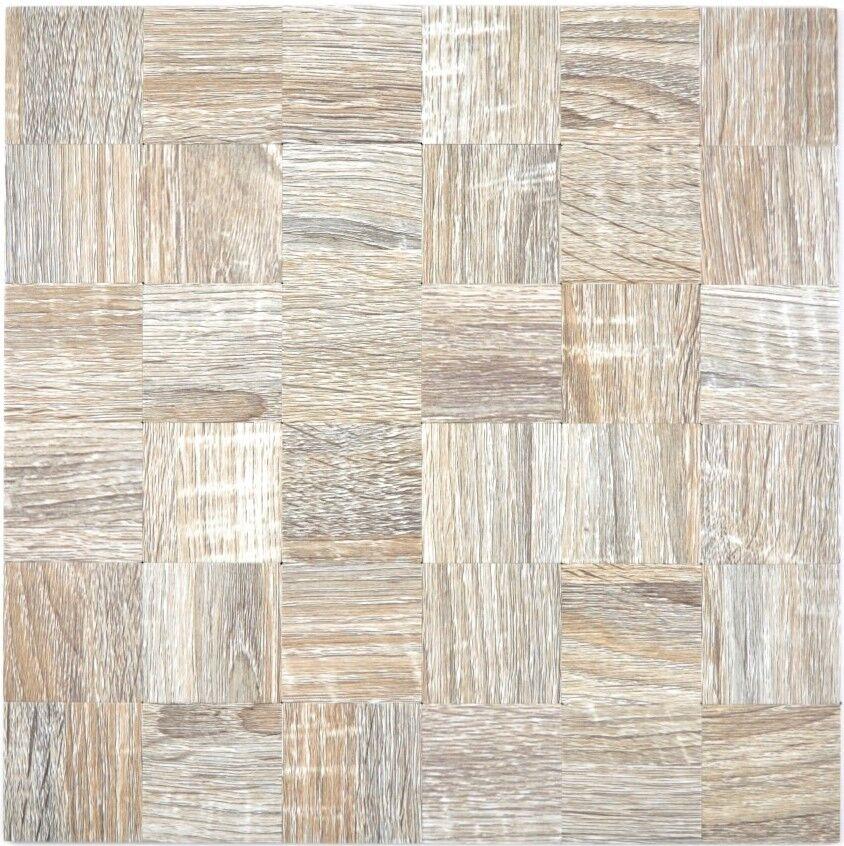 Mosaik Fliese selbstklebend Aluminium hellgrau metall holz  200-2222_f10 Matten