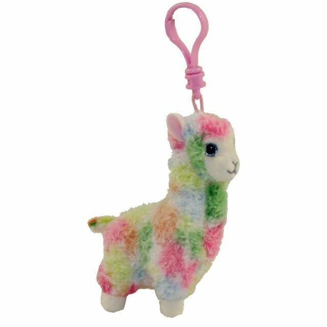 "Ty Beanie Babies 5/"" Lily Llama Plush Stuffed Animal Backpack Keychain Clip"