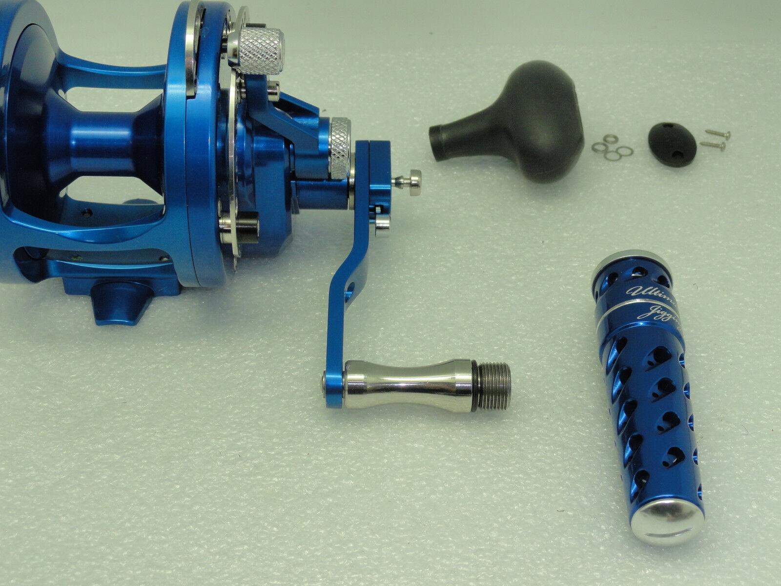 UJ T092A T-BAR handle knob direct fit Avet MXL LX LX LX HXW MC Raptor reel Gunmetal/SV 87f881