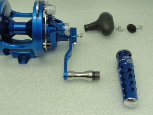 UJ T092A T-BAR handle knob direct fit Avet SX MXL LX HX MC Raptor reel Silver