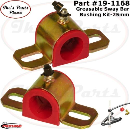 """Prothane 19-1168 Universal Greasable 25mm Sway Bar Bushing with /""""A/"""" Bracket"""