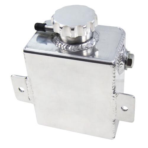 1200ml Aluminum Radiator Overflow Bottle Expansion Tank Catch Can w//Billet Cap