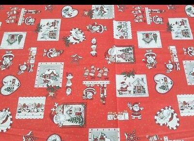 Tessuto Cotone Natale H.140 Stoffa Al Mt Tovaglie Cuscini Decorazioni Natalizie