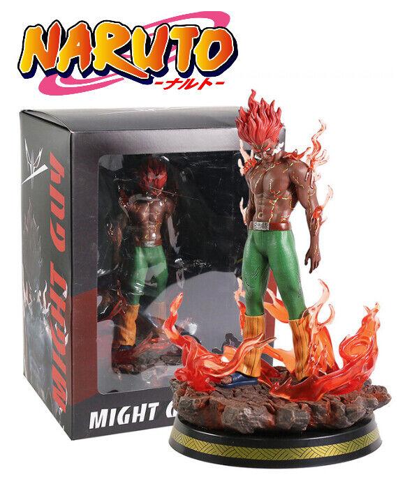 Naruto Might Guy Statue Resin Figure Figura Statue 1 7 scale 30 cm In Box