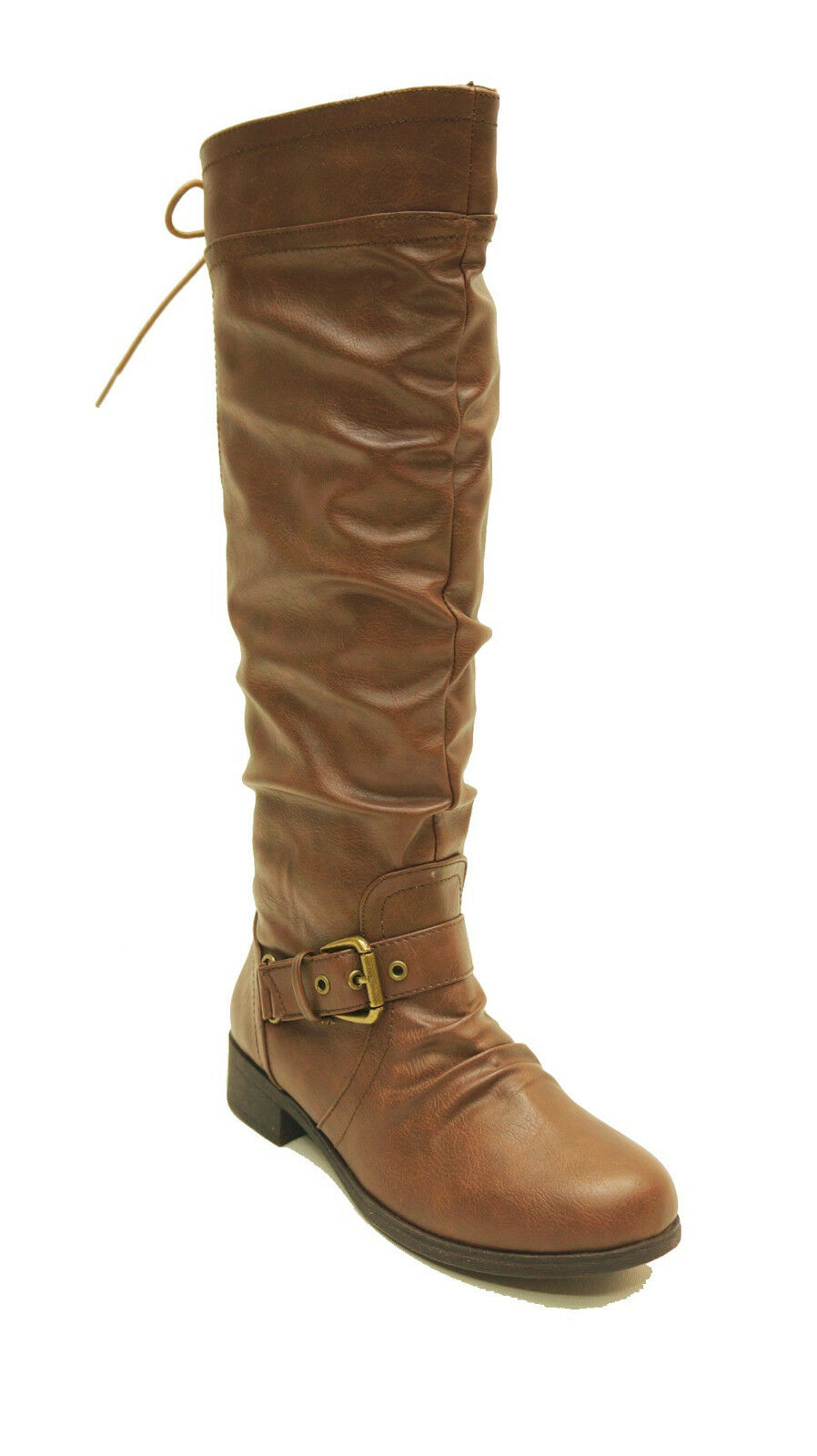 XOXO Brown Faux Leather Tall Boots MARCHER Women's Shoes US 6