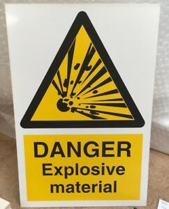 Warning Sign DANGER Open manhole 300 x 200mm Safety Signs