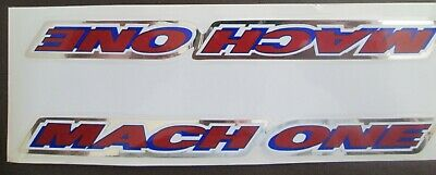 FREE SHIPPING Set of 2 Vintage GT MACH ONE Decals bmx //RED//WHITE//BLUE//CHROME