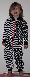 Girls-Hooded-Cotton-Pussy-Cat-PJ-039-s-Black-White-Cerise-12Months-2-6Yrs