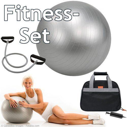 SET Expander Handpumpe Sitzball Fitnessball 60 Gymnastikball 65cm Tasche