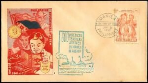 1952-Golden-Jubilee-Philippine-Educational-System-FIRST-DAY-COVER