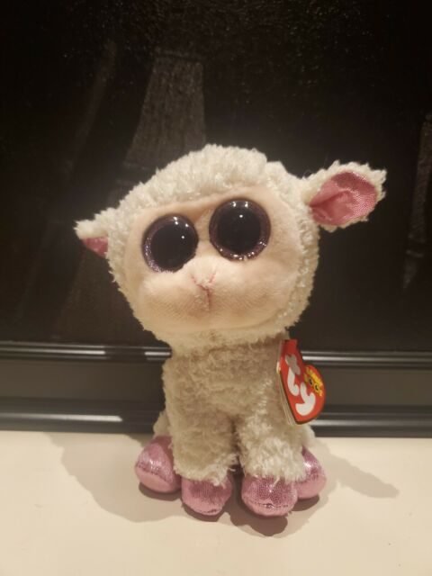 "Ty Beanie Boo/'s Collection White /& Pink Easter Lamb Stuffed Plush /""Twinkle/"" 6/""H"