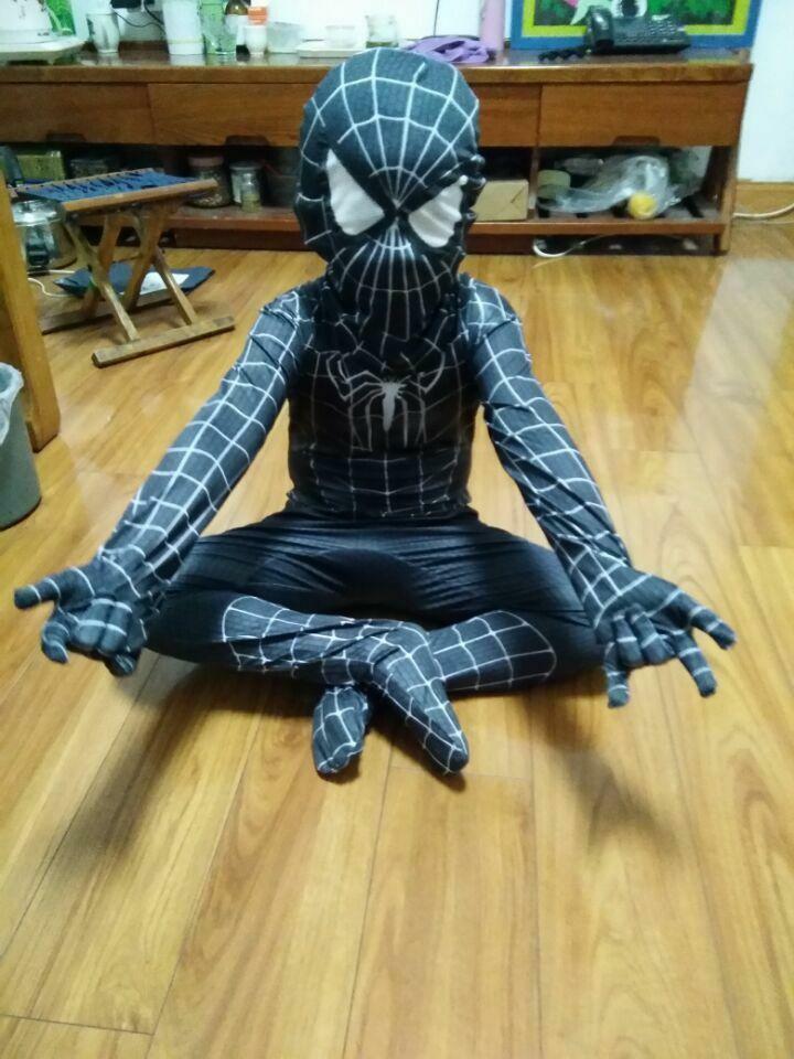 Halloween Cosplay Venom Black Spiderman Costume Suit Tights for Kids or Adult
