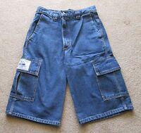 Men's Stonewashed Cargo Shorts, sizes 30, 32, 34, 36, 38, 40, 42