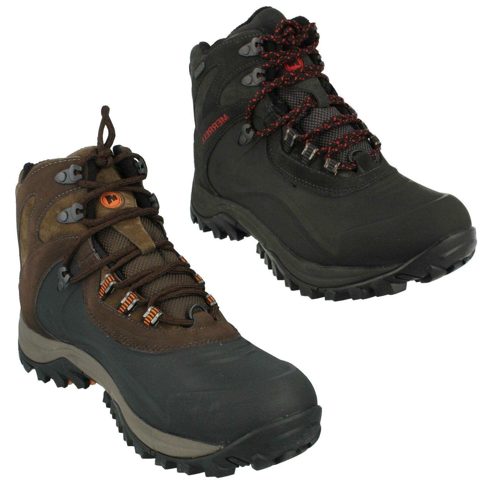 Da Uomo Merrell Iceclaw Mid Waterproof PUNTA TONDA Laceup Escursionismo Stivali j41909
