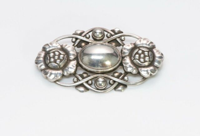 Vintage Georg Jensen Sterling Silver Brooch No 89