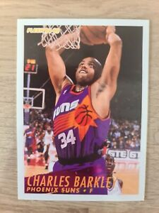 Carte Fleer Collection Basketball 🏀 1994 1995 Suns #180 Charles Barkley