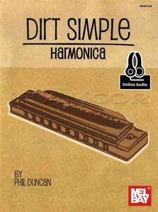 Dirt-Simple-Harmonica-Sheet-Music-Book-Audio-Learn-To-Play-Method-Phil-Duncan