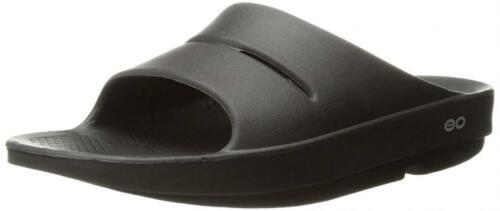 Unisex Black Oofos Ooahh Slide Sandal mn80vNwO