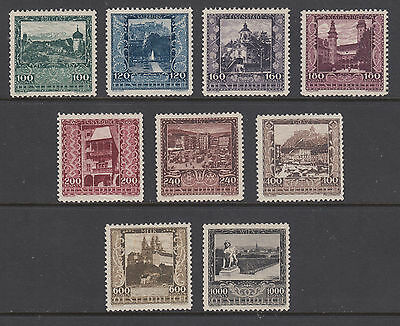 Cplt Set Austria Sc B57-b65 Mlh F-vf To Win A High Admiration 1923 Austrian Views