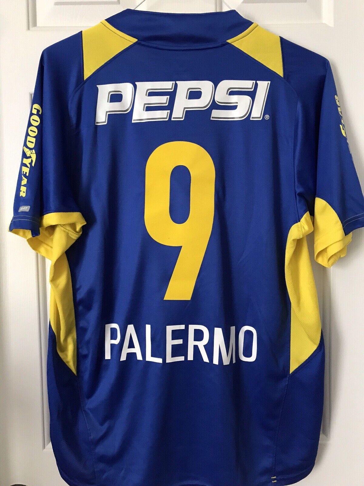 info for f876a 0a0ba Vintage Palermo Boca Juniors Jersey argentooina Maradona ...
