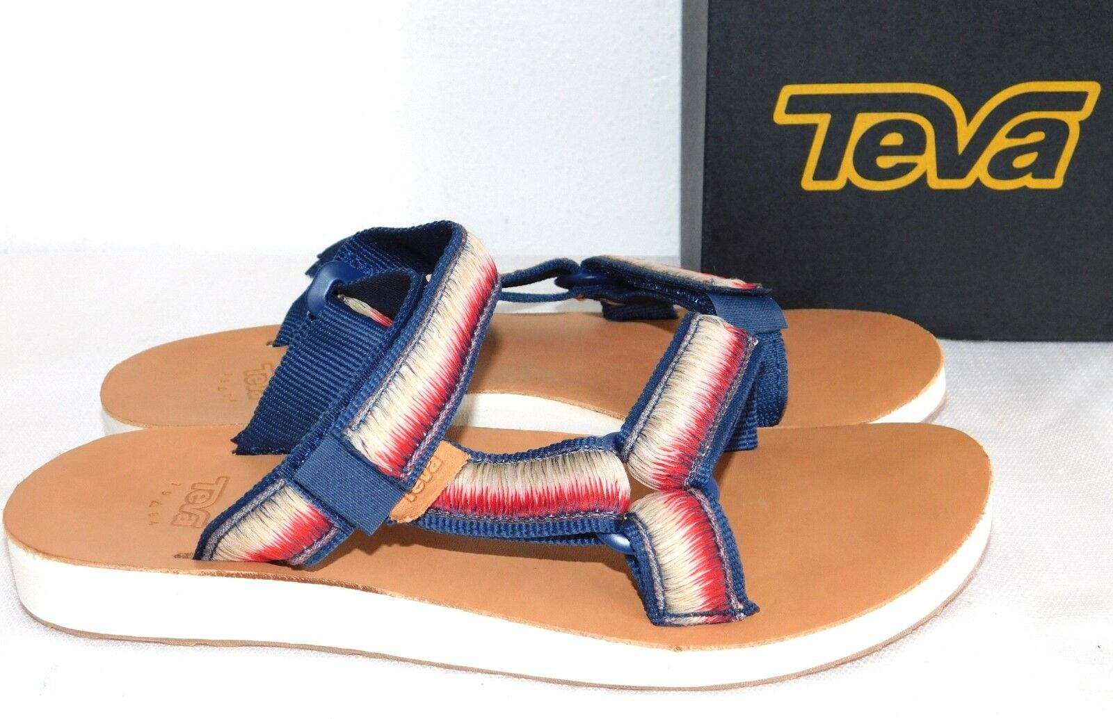 c747e3f77226 Teva Original Universal Slide Ombre Leather Sandals Navy Womens Size ...