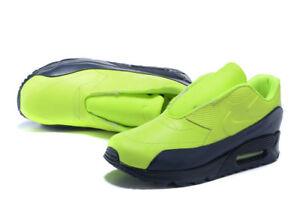 Nike-Air-Max-90-SP-Nikelab-Sacai-OBSIDIAN-BLUE-Volts-NEON-804550-774-NEUF-T-37-5
