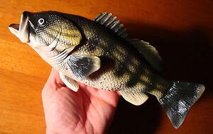 Large Realistic Bass Game Fish Fisherman Cabin Fishing Lodge Home Decor Figurine