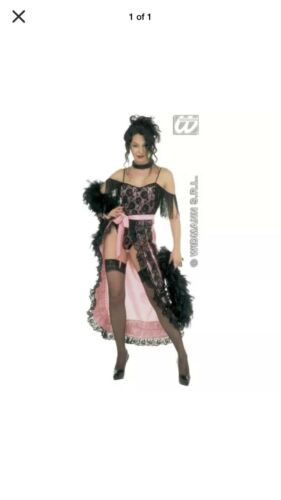 /'Moulin Rouge/'  Adult Fancy Dress Costume M 12-14 Cancan  Saloon Girl