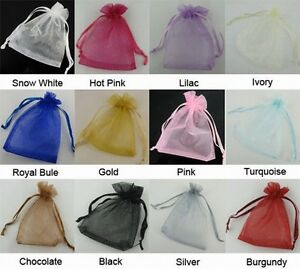 100-Luxury-Organza-Wedding-Favour-Chrisamas-Gift-Bags-Jewellery-Packing-Pouches