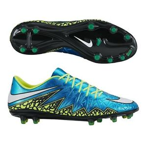 best website b3ee4 28595 Details about New Womens Nike Hypervenom Phinish FG Soccer Cleats Blue Volt  744947-400