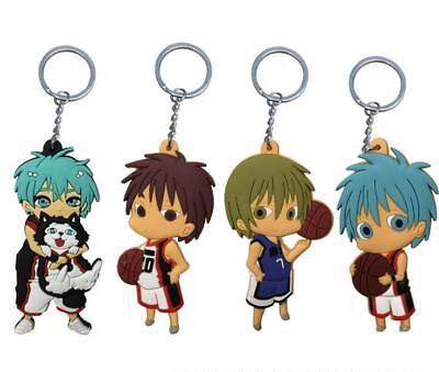 4pcs Kuroko/'s Basketball silica cute key chain key chains Jewelry pendant new