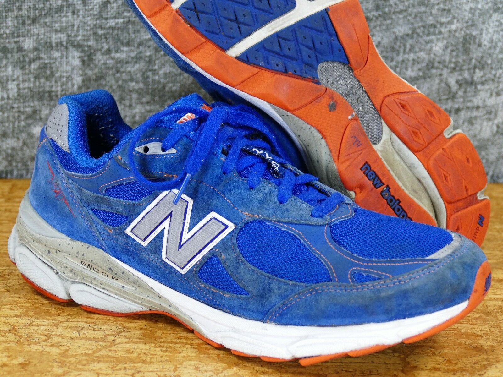 New Balance 990 v3 Men's 12 D NYC Marathon - suede blue york 992 993 M990NM3