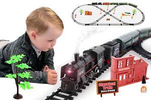 Elektrische Eisenbahn Zug Waggons LOK Schienen KP2421 NEU Set Zug Waggons
