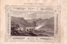 Aussig Usti nad Labem Tschechien Orig Lithographie Schreckenstein Böhmen 1820