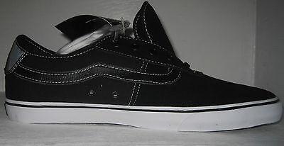 vans men's rowley (spu) black/white shoes sizes 11 to13