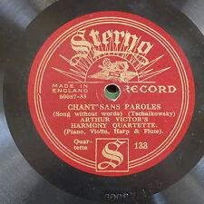 78rpm ARTHUR VICTOR HARMONY QUARTETTE chants sans paroles / schubert serenade