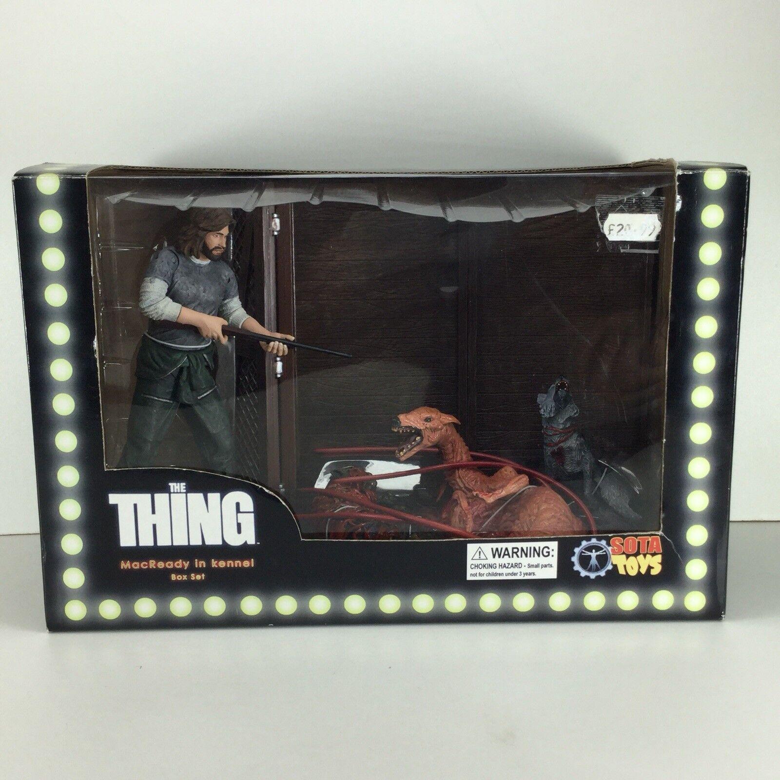 Sot Toys ahora juega la cosa Macready en Kennel acción figura Box set Horror