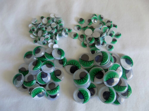 EYELASHES Wiggly Wobbly googly Eyes  Craft embellishements mixed sizes
