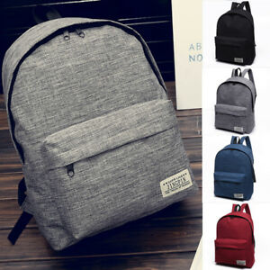 Fashion Men Women Travel Canvas Backpack