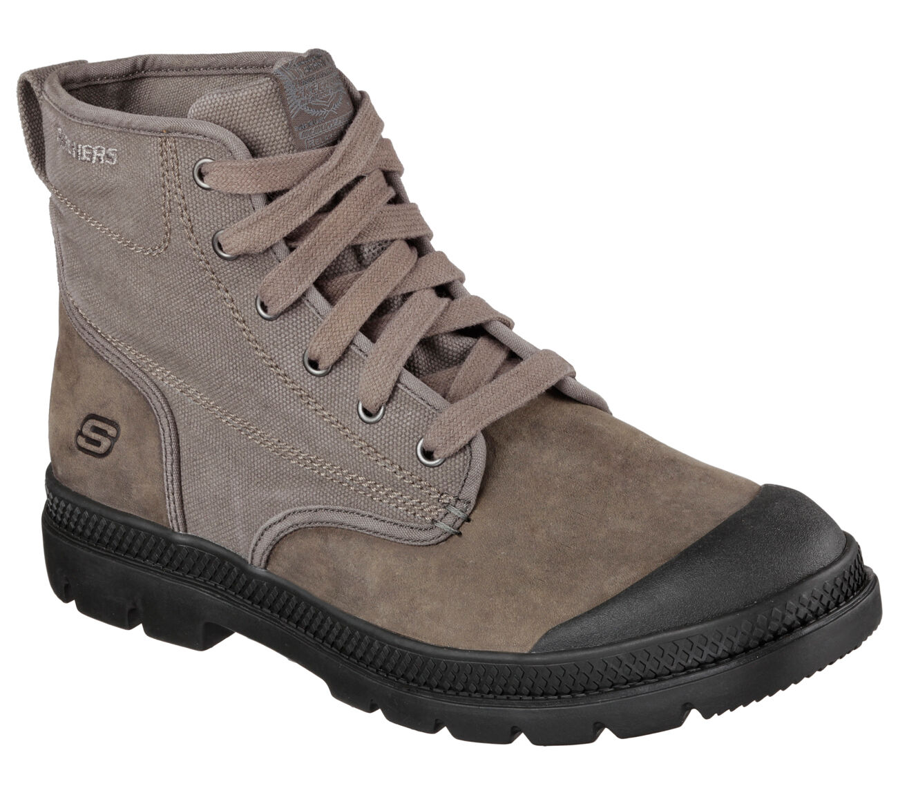 Men's SKECHERS Relaxed Fit Milton - Silvio Boot, 64587 /Char Sizes 8-14 Charcoal