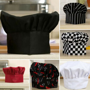 Adjustable-Restaurant-Cap-Catering-Elastic-Baker-Kitchen-Chef-Hat-Cook-Unisex