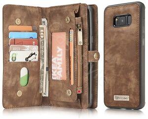 Samsung-Galaxy-S8-Plus-Leather-Wallet-11-Cards-Cash-Storage-Folio-Zip-Case-Cover