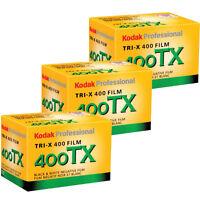 3 Rolls Kodak Kodak Tx 400-36 35mm Tri-x Pan Black And White Film, Exp 2018