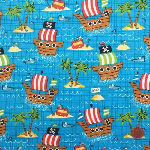 Children/'s Ship ahoy 100/% Cotton fabric sold by the half metre 112 cm wide
