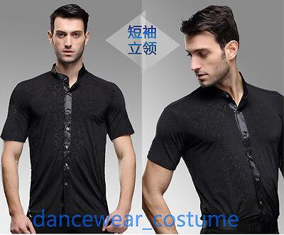 SchöN Män Party Ballsaal Latein Tango Salsa Turnierhemd Herrenhemd Tanzen Hemden Shirt