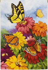 NEW LARGE EVERGREEN FLAG MONARCH BUTTERFLY MELODY FALL SUMMER COLORS 29X43