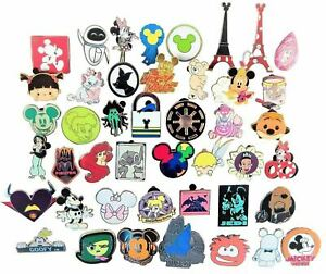 Disney-Pin-Trading-50-Assorted-Pin-Lot-Brand-NEW-Pins-No-Doubles-Tradable