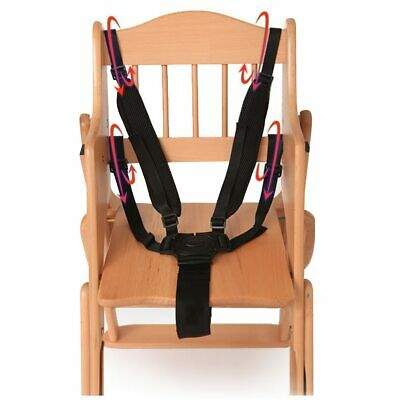 Baby Universal 5 Point Harness High Chair Safe Belt Belts Seat N4S8